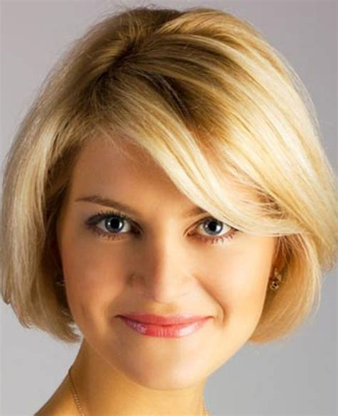 best bob for thinning hair round faces short hairstyles for round faces