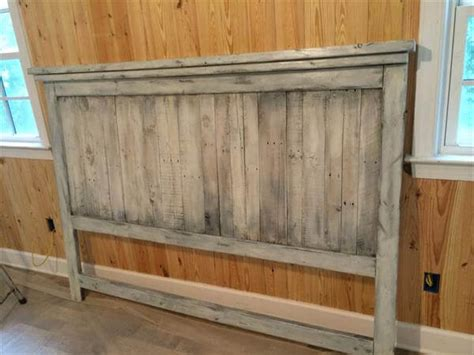 Wood Pallet Headboard Pallet Wood Headboard For King Bed 101 Pallets