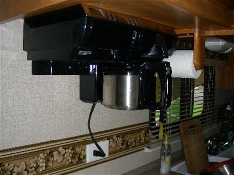 under cabinet coffee maker rv rv coffee maker under cabinet cabinets matttroy