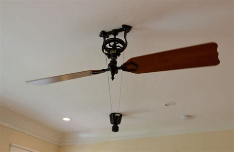 pulley driven ceiling fans vintage fan with motor and pulley belt ceiling fans