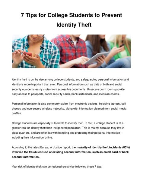 7 tips to prevent bed 7 tips for college students to prevent identity theft