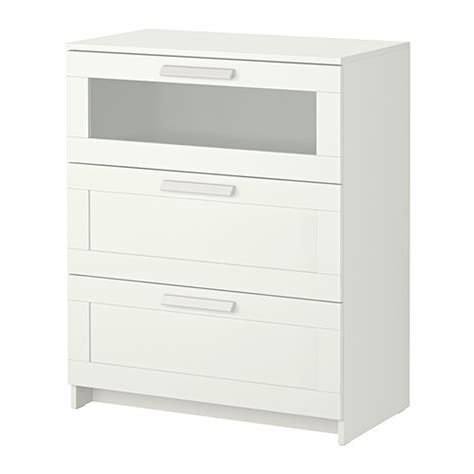 brimnes ikea brimnes 3 drawer chest white frosted glass ikea