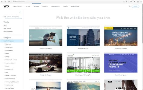 Wix Has Been A Website Builder Made To Simplify And Professionalize The Creation Of Contemporary Buy Wix Templates
