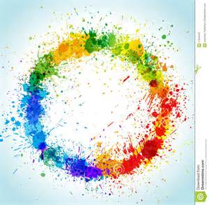 painting colour color paint splashes round background stock image image 17544441