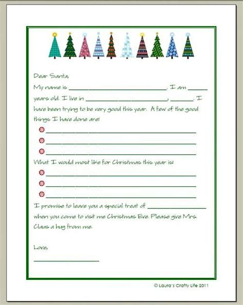 letter to santa and a printable printable letters