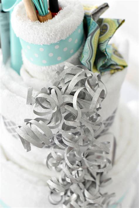 towel cake a diy bridal shower gift squared