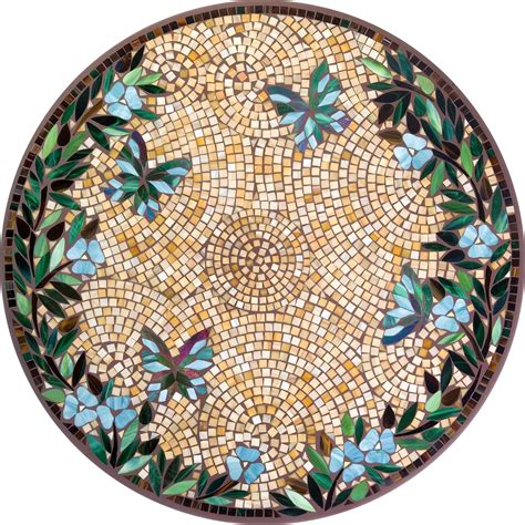 round mosaic pattern ideas hilton head patio furniture stained glass mosaic table