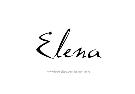 elena name tattoo designs