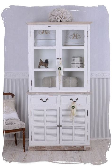 armoire buffet vitre vitrine style shabby bois hetre