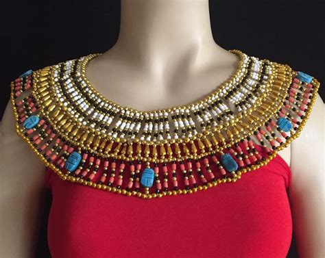 ancient egyptian cleopatra collar necklaces ancient egyptian queen cleopatra beaded collar necklace