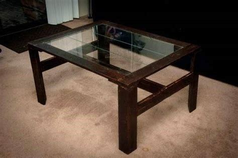 Diy Glass Top Coffee Table Diy Pallet Coffee Table With Glass Top 101 Pallets