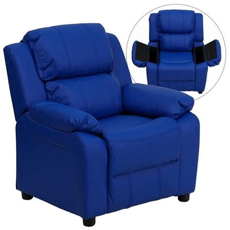 flash furniture kids recliner flash furniture contemporary kids recliner in blue