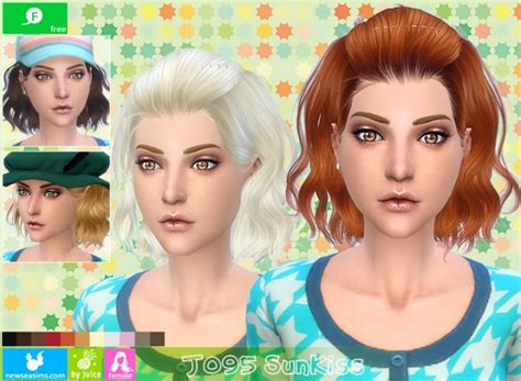 free hair cuts matc j095 sunkiss free female hair at newsea sims 4 187 sims 4