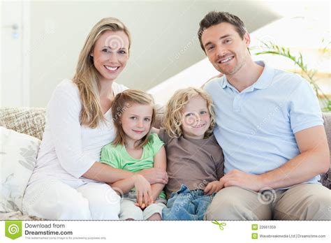 couch family happy family on the couch royalty free stock images