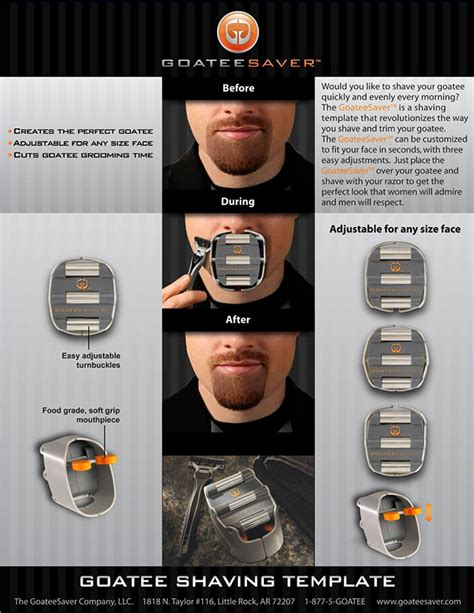 goateesaver the goatee shaving template pee wee s blog