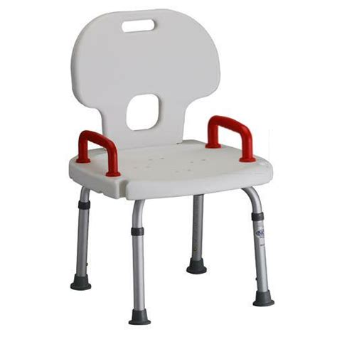 roscoe shower chair with back and handles shower chair by 9100 height adjustable