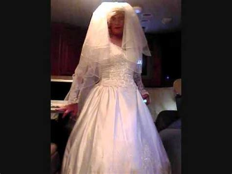 guys forced to wear wedding gown man in a satin and lace wedding gown wmv youtube