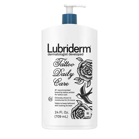 lubriderm tattoo lubriderm daily care lotion water based