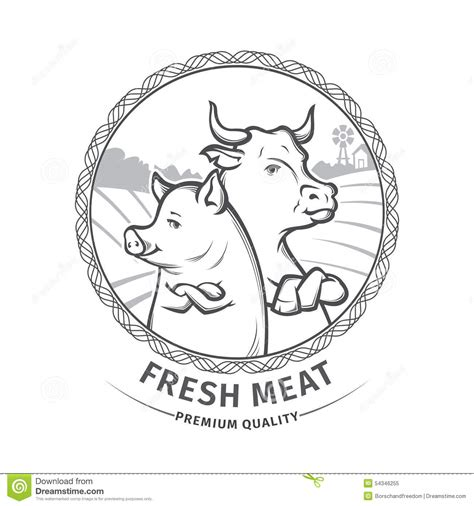 shop black pig meat company fresh meat stock vector image 54346255