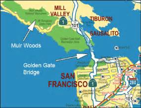 map of muir woods california muir woods monument the redwood forest location of muir