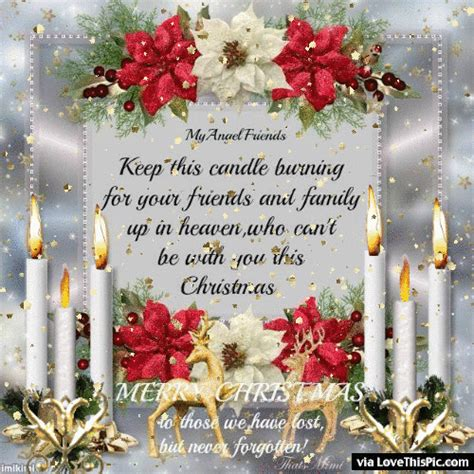 candle burning  loved   heaven  christmas quote pictures
