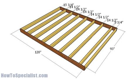 shed plans howtospecialist   build step