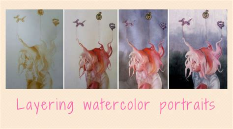 watercolor tutorial layering step by step watercolor and gouache portrait painting