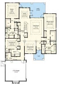 dual master bedroom floor plans dual master suite energy saver 33093zr 1st floor master suite cad available den office