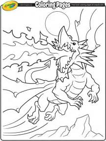 fire breathing dragon coloring page crayola com