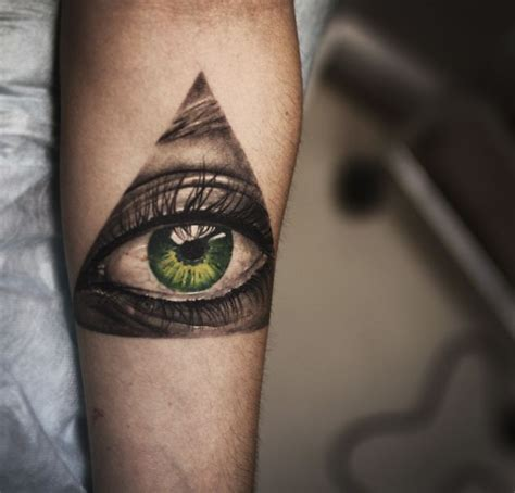 amazing green eye tattoo tattoomagz