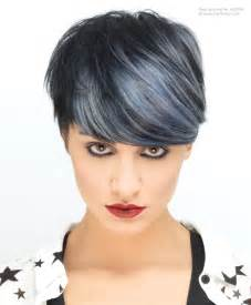 silver highlighted hair styles short black hair with silver highlights pixie