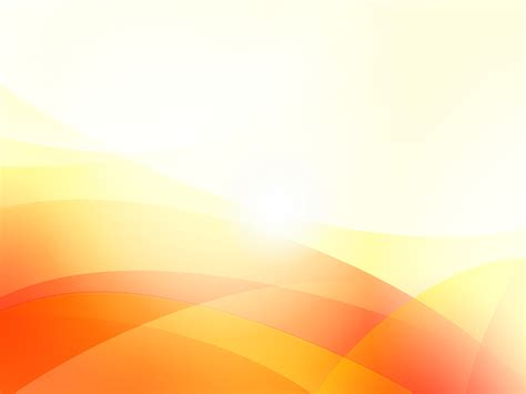 Orange Waves PPT Backgrounds   Abstract, Orange, White
