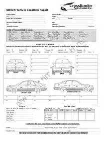 Vehicle Condition Report Template Vehicle Condition Report Templates Word Excel Samples