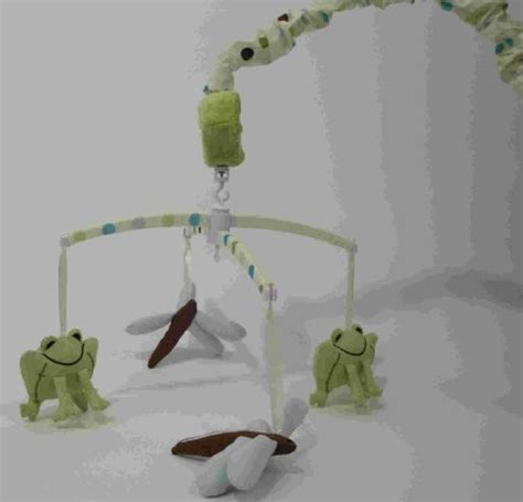 Frog Crib Mobile by Cheap Frog Baby Bedding Beansprout Hopper Mobile Blue Green