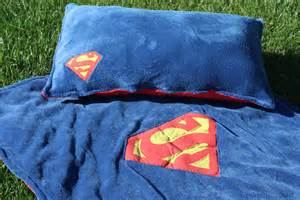 superman blanket and pillow set