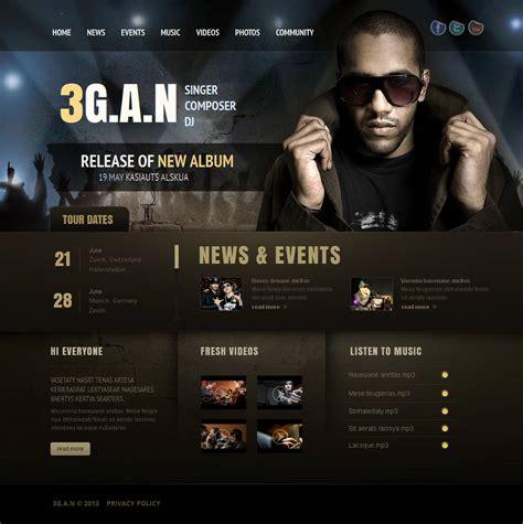 Singer Moto Cms Html Template 43506 Best Website Templates For Musicians