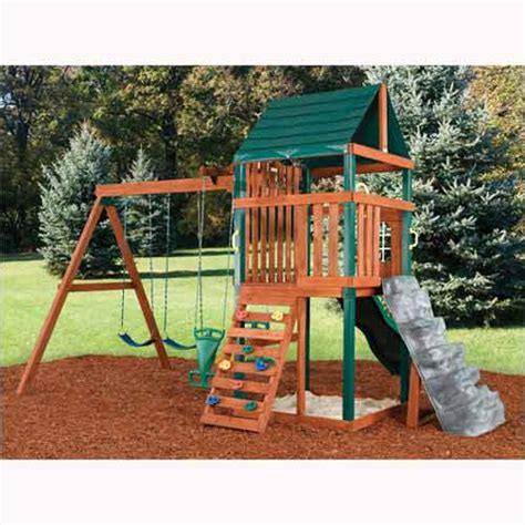 wood swing set swing n slide brentwood wood swing set brentwood wood