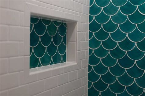 fish tiles bathroom how to tile a backsplash fish scales fish scale tile