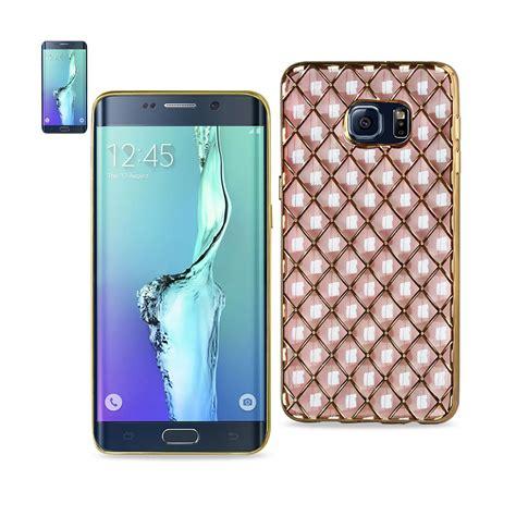 3d Grip For Samsung S6 saapni reiko samsung galaxy s6 edge plus 3d rhombus pattern tpu with shiny