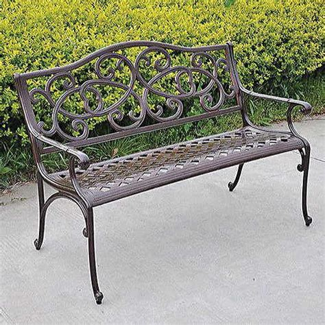 cast aluminum outdoor bench wisteria cast aluminum outdoor bench at jackson perkins