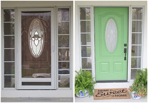 front door before and after front door painting for instant curb appeal before and