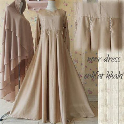 Ready Coklat Ungu Dress Murah noor dress by aidha jual busana muslim