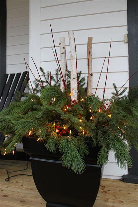 beautiful christmas arrangement for large pot outdoor