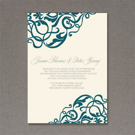 printable wedding invitation design 5 beautiful elegant free wedding invitations fab n free