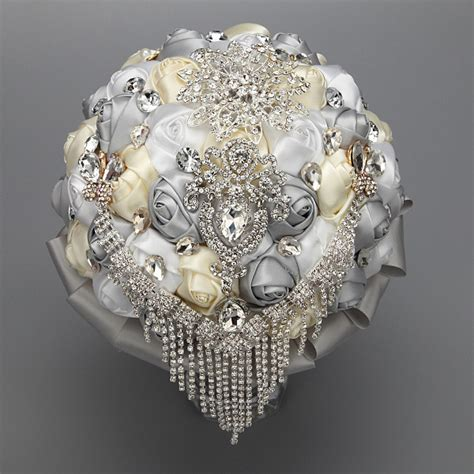 Handmade Brooch Bouquet - quot handmade quot silver wedding bouquet brooch