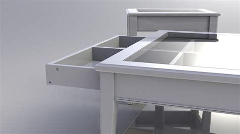 liatorp sofa table liatorp sofa table with drawer stl solidworks 3d cad