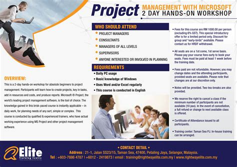 Microsoft Project Malaysia project management with microsoft project 2 day on workshop rightway elite icdl