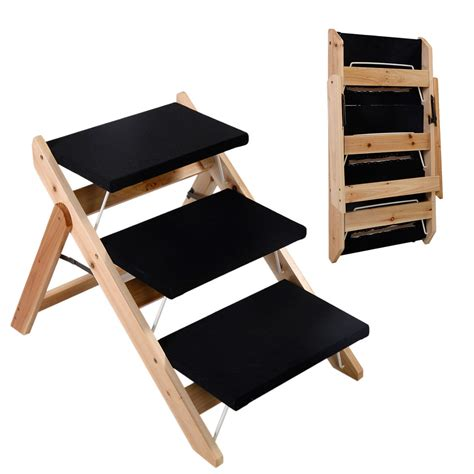 foldable stairs new portable folding 2 in 1 wooden pet r stairs dog