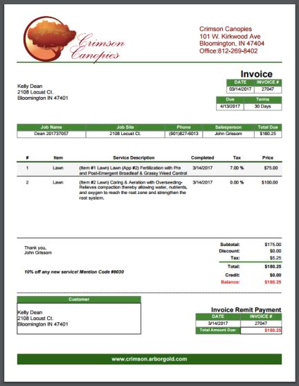 lawn maintenance invoice template lawn care invoice template hardhost info
