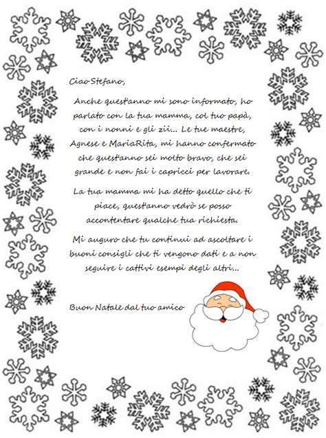 lettere babbo natale maestra mariapaola una lettera da babbo natale